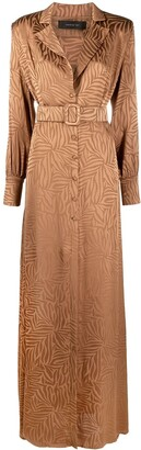 FEDERICA TOSI Abstract-Print Belted Maxi Dress