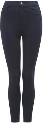 Forever New Zoe Mid-Rise Ankle Grazer Jeans - Navy Sateen - 10