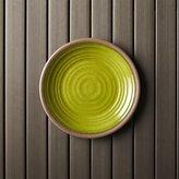 "Crate & Barrel Caprice Green 8.5"" Melamine Plate"