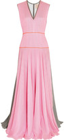 Roksanda Appley striped textured silk-blend crepe gown