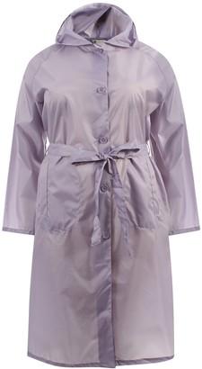 Hari Deals Ladies Long Hooded Showerproof Lightweight Trench Supermac Jacket Coat Navy 10-12