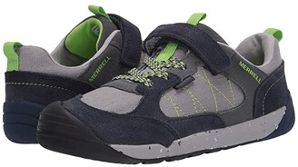 Merrell Bare Steps Alpine Sneaker (Little Kid) (Navy) Boy's Shoes