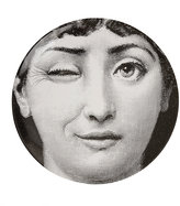 """Fornasetti Woman Winking"""" Plate"""
