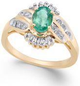 Macy's Emerald (3/4 ct. t.w.) & Diamond (1/4 ct. t.w.) Ring in 14k Gold
