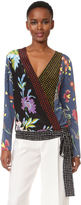 Diane von Furstenberg Long Sleeve Crossover Blouse