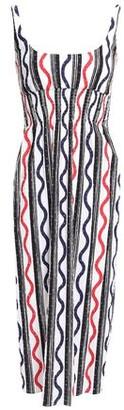 Emilia Wickstead Giovanna Shirred Printed Stretch-cotton Midi Dress