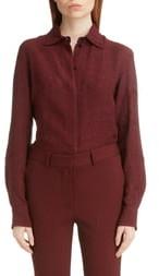 Victoria Beckham Slim Fit Cloque Jacquard Shirt