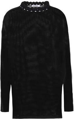 Jil Sander Crochet-trimmed Cotton And Linen-blend Top