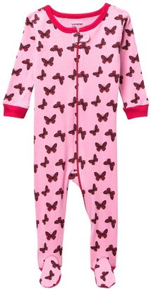 Leveret Butterfly Footed Pajama Sleeper (Baby Girls & Toddler)