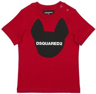 DSQUARED2 Ciro Logo Printed Cotton Jersey T-shirt