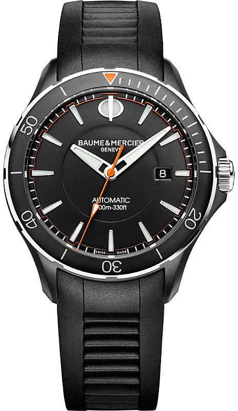Baume & Mercier M0A10339 Clifton Club stainless steel and rubber watch