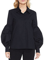 Vince Camuto Long Puff Sleeve Button Down Shirt