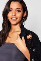 boohoo Ella Statement Bead & Diamante Earrings