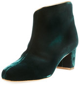 Malone Souliers Eula Velvet Ankle Boot, Green