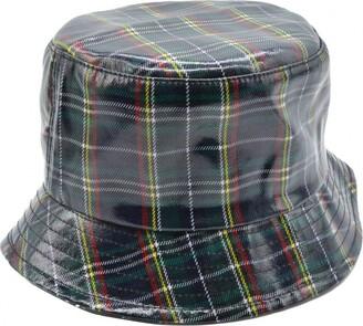 Express Hats Ladies Tartan Waterproof Fisherman Bucket Rain Hat - One Size (Blue)