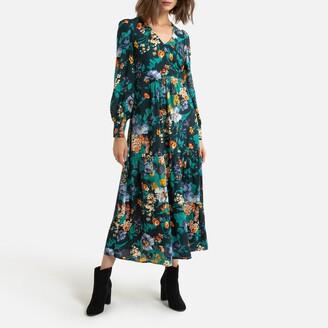 Naf Naf Floral Wrapover Maxi Dress