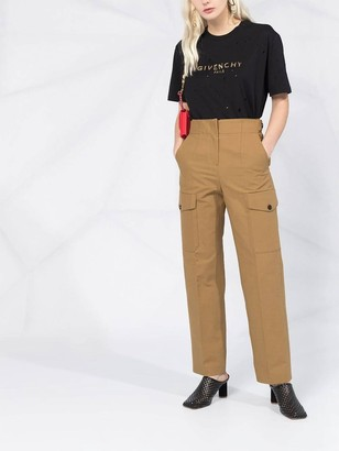 Givenchy Black & Gold Distressed Logo T-shirt