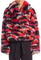 McQ Cropped Faux Fur Jacket