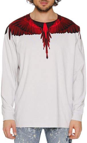 Marcelo Burlon County of Milan Men's Wings Graphic Long-Sleeve T-Shirt
