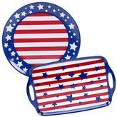 Certified International Stars & Stripes 2-pc. Platter Set