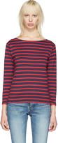 Saint Laurent Navy Striped Marlon T-shirt