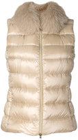 Herno fox fur trim gilet - women - Feather Down/Fox Fur/Polyamide - 38