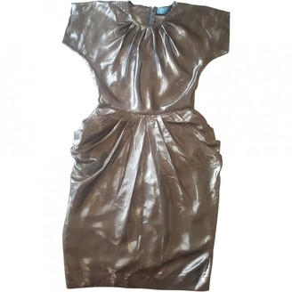 Betty Jackson Metallic Silk Dress for Women