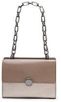 Louise et Cie Ivie Metallic Chain-Handle Shoulder Bag