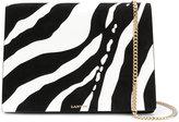 Lanvin zebra pattern shoulder bag