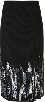 Jonathan Simkhai sequin wrap-style skirt