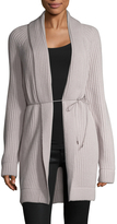 Helmut Lang Women's Wool Cashmere Ribbed Self Tie Cardigan