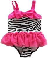 eKooBee Infant Baby Girls Swimwear Lace Zebra Swimsuits One Piece