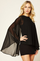 Forever 21 FOREVER 21+ Contemporary Cape-Sleeve Dress