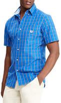 Chaps Big and Tall Plaid Short-Sleeve Sport Shirt