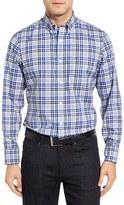 Nordstrom Smartcare TM Regular Fit Plaid Sport Shirt (Big)
