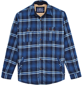 Joules Check Classic Fit Overshirt, Navy