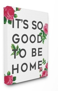"Stupell Industries So Good To Be Home Roses Canvas Wall Art, 24"" x 30"""