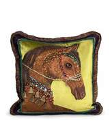 "Jay Strongwater Horse Pillow, 20""Sq."