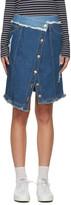 Sjyp Blue Denim Wrap Skirt