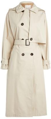 Max Mara Oversized Cotton Gabardine Trench Coat