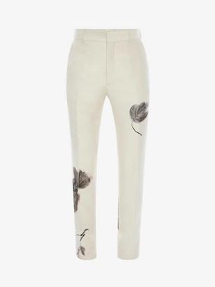 Alexander McQueen Camo Ink Floral Jacquard Pants