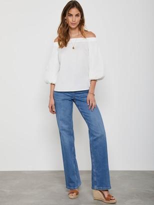 Mint Velvet Montana Flared Jeans - Indigo