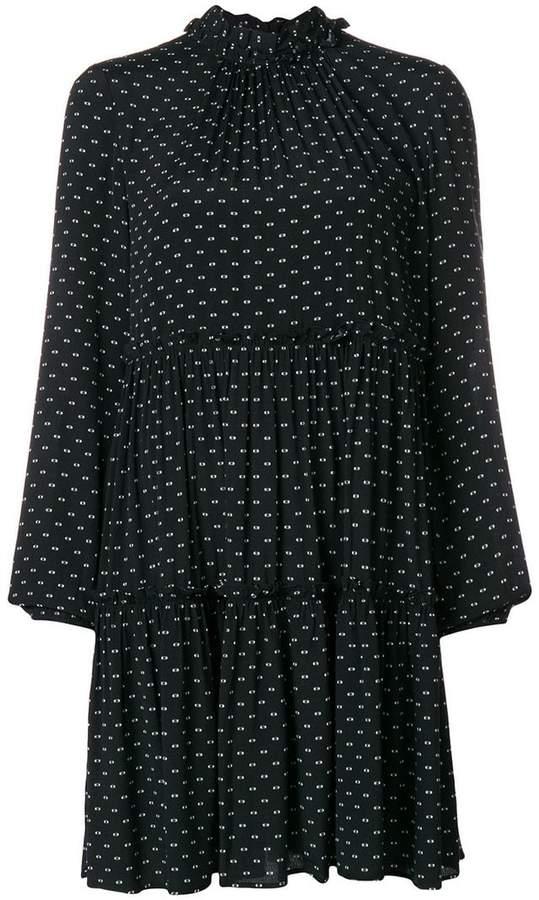 Steffen Schraut micro pattern mini dress