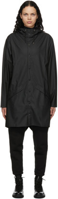 Rains Black Taffeta Rain Coat