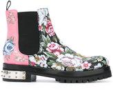 Alexander McQueen mixed floral Mod boots