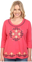 Roper Plus Size 0444 Light Slub Jersey Tunic