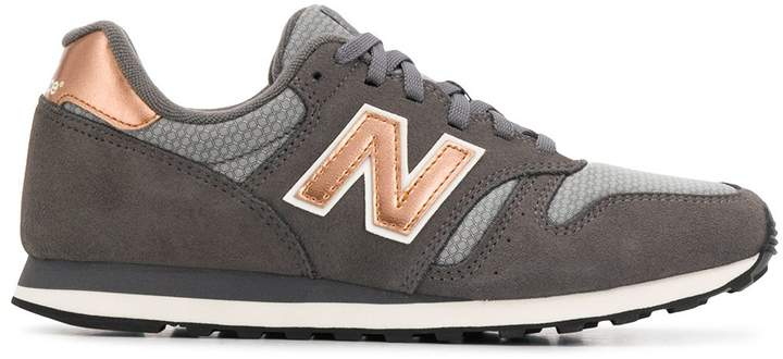 New Balance panelled logo patch sneakers