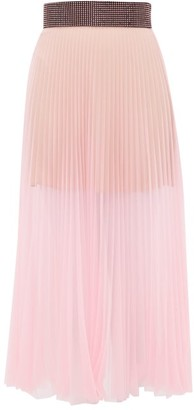 Christopher Kane Crystal-embellished Pleated Tulle Midi Skirt - Light Pink