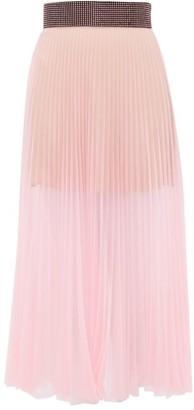 Christopher Kane Crystal-embellished Pleated Tulle Midi Skirt - Womens - Light Pink