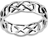 SPARKLE ALLURE Silver-Plated Cutout Band Ring